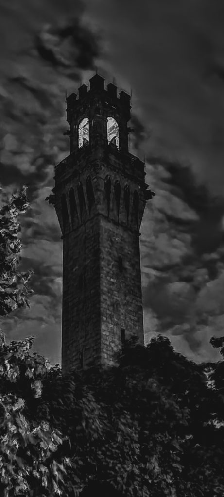 The Pilgrim Monument with lights turned off