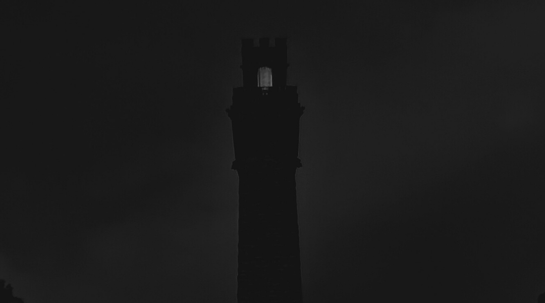 Pilgrim Monument with lights out